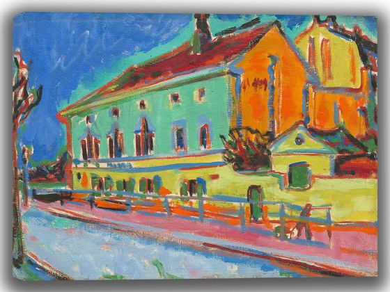 Kirchner, Ernst Ludwig: Dance Hall Bellevue. Fine Art Canvas. Sizes: A4/A3/A2/A1 (004131)
